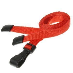 Lanyards with plastic clip, Various Colours, 25 Pack